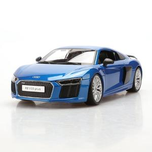 Exquisito Audi R8 V10 Plus Modelo de coche de aleación 1:18 Simulación Modelo de coche original