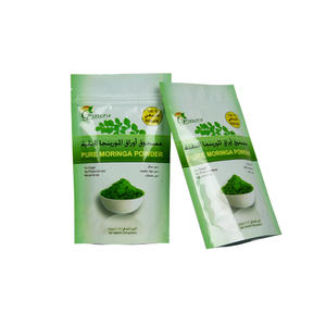 100g Pure Moringa Powder Packaging Stand Up Aluminum Foil Resealable Bag