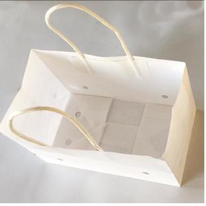 100% White Kraft Paper Grape Bag with Twisted Paper Handle