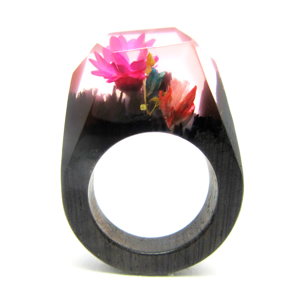 Guangzhou factory natural wood ring jewelry smart rings(rings secret wood)