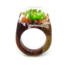 Hot sale smart resin wood rings for new designs jewelry(wholesale wood resin ring)