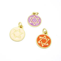 Wholesale metal Pantone enamel religious charms, Hot Sale  Israel David of Star charms (enamel jewelry charm)