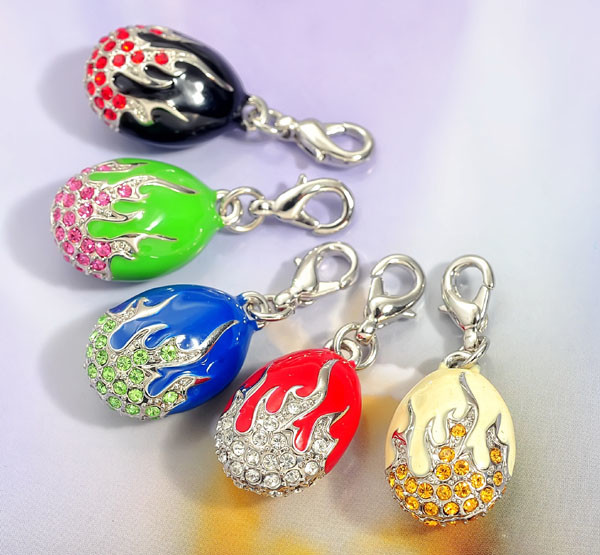 New fashion openable colorful enamel Faberge eggs charms pendants (oem charm supplier)