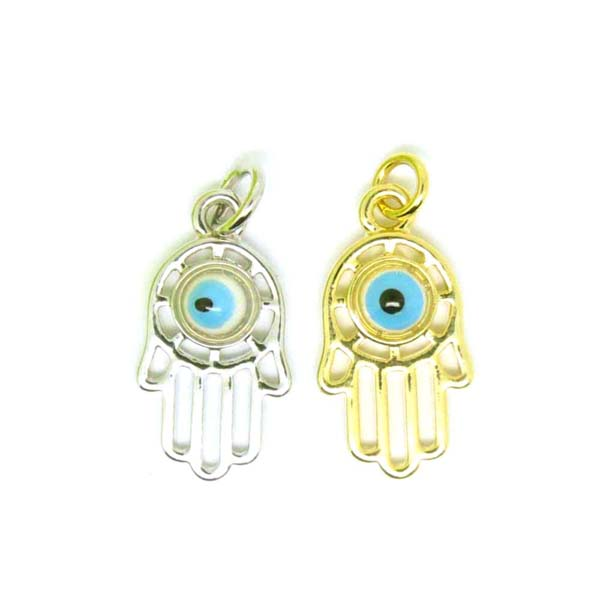 wholesale factory made silver hamsa charms, cheap Turkey charms (hamsa hand charms)