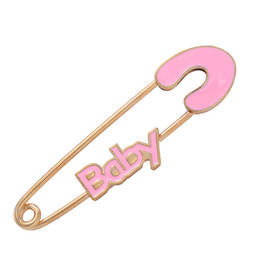 Wholesale manufacturer pink enamel pins gift & baby jewelry (safety baby pink pins)