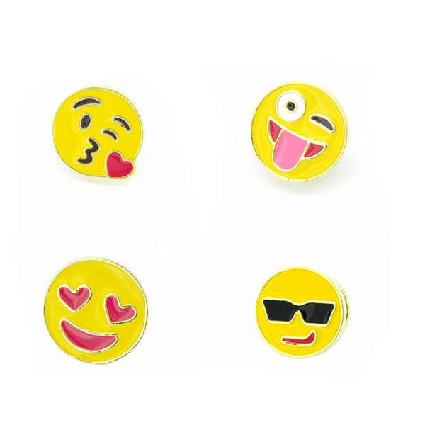 Professional enamel jewelry manufacturer and cute pins(enamel emoji pins)