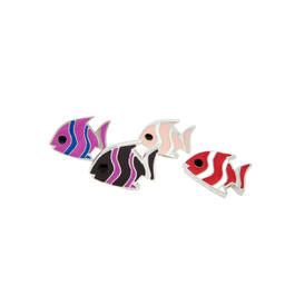Fashion Design Wholesale Custom Tropical fish metal pins jewelry(enamel pins)
