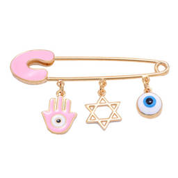 Manufacturer custom made fashion baby girl gift pins (Evil eye Israel religious pin)
