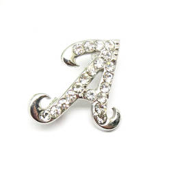 Manufacturer custom made alphabet A crystal pins (initial brooch)
