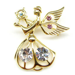 Wholesale rhinestone angle shaped brooch  (brooch wholesale)