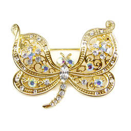 Special design crystal insect dragonfly brooch jewelry (metal brooch)