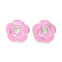 Wholesale stud earrings, metal flower enamel stud earrings for girls (earring stud)
