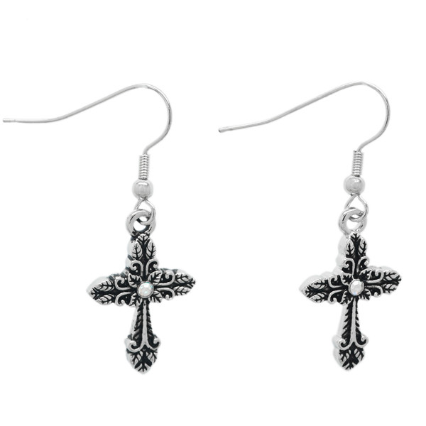 Hot sale factory handmade religious dangle earrings jewelry (fashion earring)
