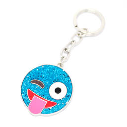 China Factory Handmade Enamel Shiny Smiling face key ring (emoji keychain)