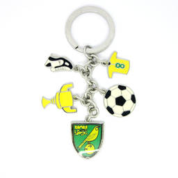 Wholesale metal enamel sports football, trophy charms key ring (keychain manufacturers in china)