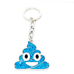 Custom made fashion enamel jewelry Emoji Poop keyring (promotional key ring)