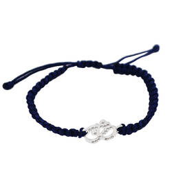 Wholesale metal crystal Yoga link charms rope bracelet (sterling charm bracelet)