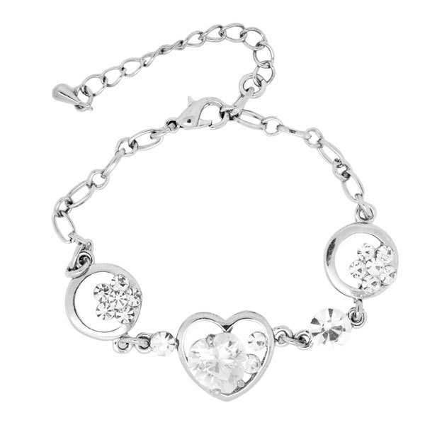 Classic simple rhinestone bracelet jewelry design for girls (crystal bracelet)