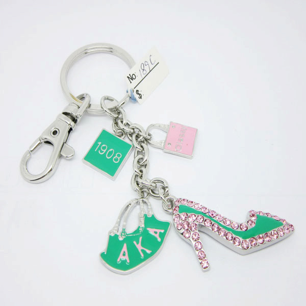 Wholesale enamel AKA Sorority keychain bag accesossries for women (Fashion accessories)