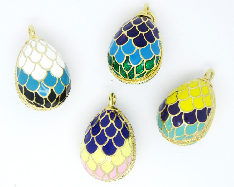 Wholesale 3D Russia enamel Faberge egg pendant for necklace (Enamel jewellery)