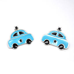 China custom jewelry enamel cute car earrings stud for kids manufacturer (cute stud earrings)