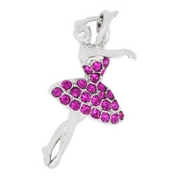 Beautiful custom made crystal ballet girl pendant charms manufacturer (pendant charms)