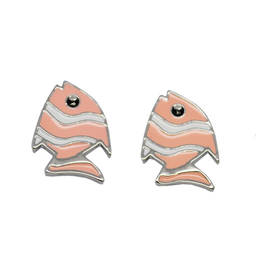 Wholesale enamel metal tropical fish earrings post online sales (earrings online)