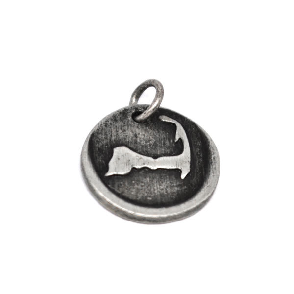 Wholesale custom design  embossed state map pewter charms factory (pewter charms)
