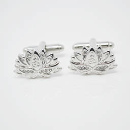 Fashion style metal alloy Silver Yoga Cufflinks  (silver cufflinks)