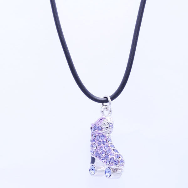 Customised Skating Shoe Charm Necklace Crystal Jewelry (crystal necklace)