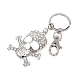 Silver custom crystal skull keychain Holloween Special gift (keychain for keys)