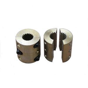 coupling for flyer drive flyer rail bobbin shaft