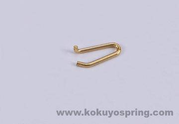 Gold plating wire form spring