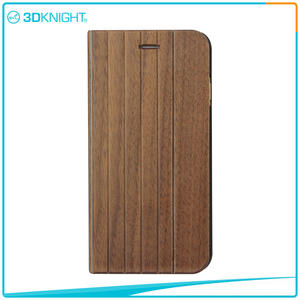 3D KNIGHT |  Quality Shock Proof Case For Iphone, Flip Wood IPhone Case