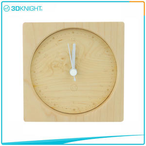 custom-made 3D KNIGHT | Handmade Wood Clocks Desklop Clocks suppliers