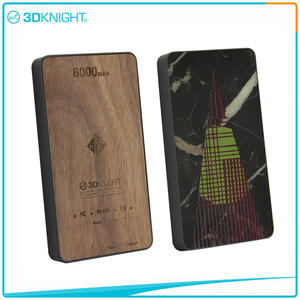 3D KNIGHT | Wood Power Bank 6000mah Wood Protable Charger