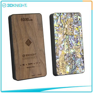 3D KNIGHT | Wood Power Bank 6000mah Wooden Protable Charger