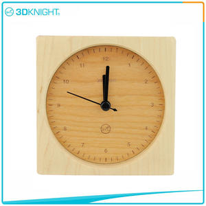 3D KNIGHT | Handmade Wooden Clock Desklop Clocks