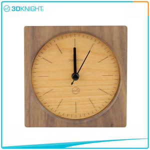 high quality 3D KNIGHT | Handmade Wooden Clock Wood Desklop Clocks suppliers