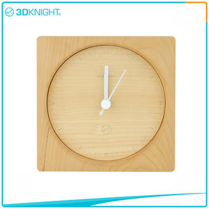 Wholesale 3D KNIGHT | Handmade Wooden Clock Wood Desklop Clocks manufacturers