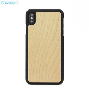 2018 New Arrival Blank Real Maple Wood Cell phone Case for iphone XS Max
