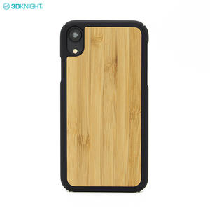 Fashion Design PC Edge Bamboo Wood Mobile Phone Case For Iphone XR