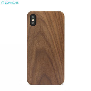 Fashion Eco-friengly Real Blank Walnut Wood Phone Case For Iphone XS Max
