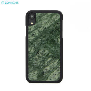 New Arrival Engraving LOGO Design Real Marble Phone Case For IPhone XR