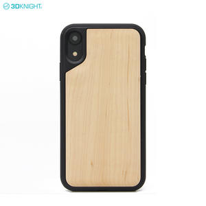 2018 Latest Product 6.1 Inch Carved TPU Wooden Blank Cell Phone Case For IPhone XR