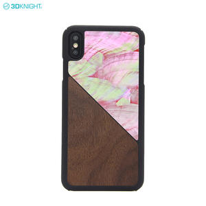 China Factory OEM Custom Wood Seashell Design Hard PC Mobile Phone Case