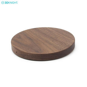 Walnut Handcraft Wooden Qi Fast Wireless Charger Charging Pad For Samsung For IPhone