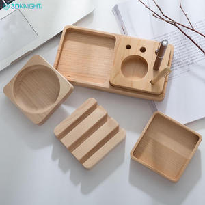 Solid Wood Mobile Phone Stand Set,Desktop Stationery Storage Box