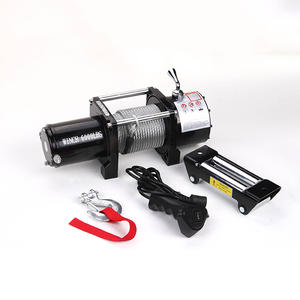 China wholesale custom 6000lbs portable 12v winch factory
