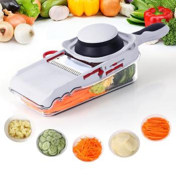 5 In 1 Mandoline Slicer With Storage Box, Vegetable Slicer itemprop=